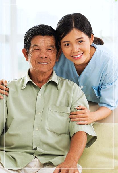 caretaker and elder man